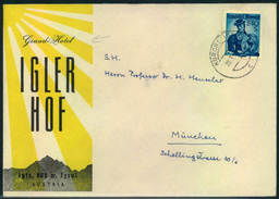 KURORT IGLS; Grand Hotel IGLER HOF, 2,40 Sch Trachten - 1945-60 Cartas