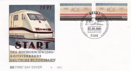 Germany FDC 1991 ICE (T4-1) - FDC: Buste