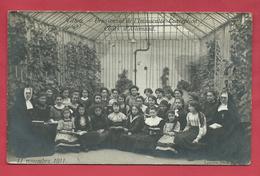 Virton - Pensionnat De L'Immaculée Conception , Le 11 Novembre 1911 - Cours D'Allemand - Carte Photo ( Voir Verso ) - Virton