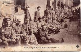 Croquis De Guerre - Cavaliers Anglais Dans Un Cantonnement En France  (93889) - Guerre 1914-18