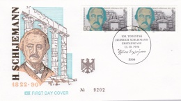 Germany FDC 1990 H.Schliemann (T4-2) - FDC: Briefe