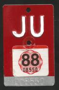 Velonummer Jura JU 1988-Vignette (Top Rarität - Siehe Beschrieb) ! - Plaques D'immatriculation