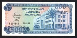 BURUNDI : 500 Francs - 1988 - UNC - Burundi