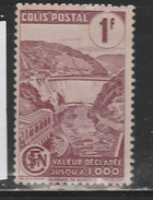 FRANCE COLIS POSTAL N° 216A 1F LIE DE VIN BARRAGE DE MAREGES NEUF AVEC CHARNIERE - Paquetes Postales