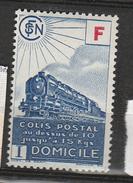 FRANCE COLIS POSTAL N° 201 4F30 BLEU  LIVRAISON A DOMICILE  NEUF SANS CHARNIERE - Neufs