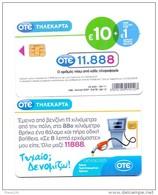 GREECE PHONECARD OTE 11888 CATALOG INFORMATIOS  ,M0130- 50000pcs-9/11-USED - Greece