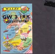 GALLES  1993 - Aberystwyth - Carta Geografica - Radio Amatoriale