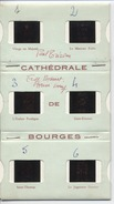 18 - BOURGES   - DIAPOSITIVES  - Cathedrale - Vitraux - 6 Diapos - Dias