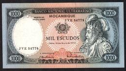 MOZAMBICO (MOZAMBIQUE, MOCAMBIQUE) : 1000 Escudos - 1972 - P112 - AUNC - SN : JVE-34779 - Mozambique