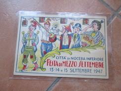 NOCERA INFERIORE Festa Di Mezzo Settembre 1947 Illustratore Concorso Carri Gara Bancarelle Edizione CALDO NApoli - Salerno