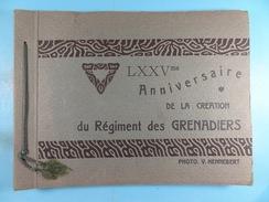 Album LXXVme Anniversaire De La Création Du Régiment Des Grenadiers 12 Photos 17cm X 12cm (escrime,gymnastique, Défilé.) - Guerre, Militaire