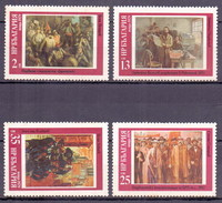1979 Bulgaria History Of Bulgarian Paintings (4v) MNH (M-199)