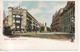 CPA - BADEN BADEN - LEOPOLDSPLATZ - T. B. E. - PRECURSEUR - 7169 - LOUIS GLASER - HOTEL VICTORIA