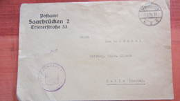 Dt Besetzg: Brief Saar Postsache Vom PA Saarbrücken 2 Nach Halle Vom  2.2.35 - Deutschland