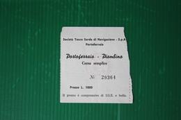 """BIGLIETTO CORSA SEMPLICE TRAGHETTO  MN """"AETHALIA"""" ISOLA D'ELBA- 1966 - Europe"""
