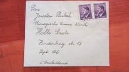 Dt Besetzg: Kleinbrief Von Prag Böhmen Und Mähren Mit 60 H MeF Aus Schlep Nach Halle 26.11.41 Knr: 93 - Deutschland