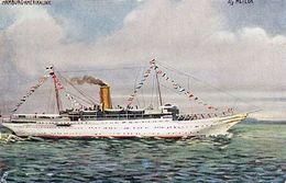 (759) S/S METEOR Hamburg-Amerikalinie (Tuck`s Postkarte) (C-2) - Dampfer