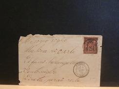 65/432  LETTRE DE MENTON POUR ITALIE  1979   YVERT NR. 91      TIMBRE DEFECUEUX - 1876-1898 Sage (Type II)
