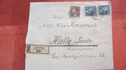 Dt Besetzg: Doppel-R-Brief Böhmen Und Mähren Mit 150 H MiF Aus Gröschlmaut (63) Nach Halle 14.5.43 Knr: 98 - Deutschland