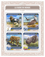 TOGO 2016 ** Fauna Of The World Kori Bustard Grey Peacock-Pheasant M/S - IMPERFORATED - A1650 - Autres