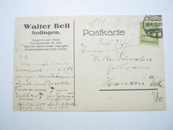 1923 , Solingen , Firmenbeleg Mit Stempel - Allemagne