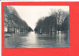 75 PARIS INONDATIONS 1910 CRUE SEINE Cpa Animée Avenue Montagné         162 ND - Inondations De 1910