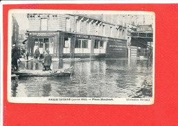 75 PARIS INONDATIONS 1910 CRUE SEINE Cpa Animée Place Maubert Coll Taride - Inondations De 1910