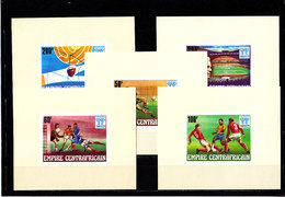 Soccer World Cup 1978 - C.-AFRICA - 5 S/S Imp. MNH** - 1978 – Argentine