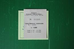 TASSA D'IMBARCO AEROPORTO CASELLE- LUFTHANSA - TORINO/FRANCOFORTE - 1982 - Billets D'embarquement D'avion