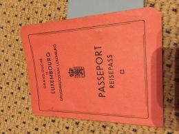 Luxemburg Luxembourg Passeport Passport Pass Avec Timbre - Varietà & Curiosità