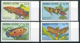 1988 Sierra Leone Pesci Fishes Fische Poissons Set + Block MNH** RR55 - Sierra Leone (1961-...)