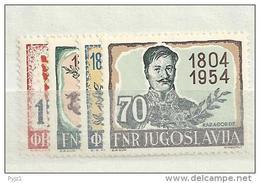 1954 MNH Joegoslavië, Postfris** - 1945-1992 Socialistische Federale Republiek Joegoslavië
