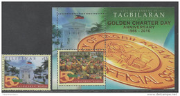 PHILIPPINES ,2016, MNH, CITY GOVERNMENT OF  TAGBILARAN , OFFICIAL SEAL, FLAGS, CARNIVALS, 1v+S/SHEET - Carnival