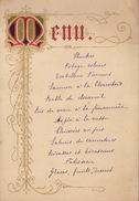 Menu 1888 Pour Madame De Clercq Politique - Menus
