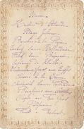 Menu Ancien 1881 - Menus