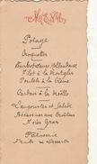Menu Ancien 1898 Diner Des Commissaires Bruges - Menus