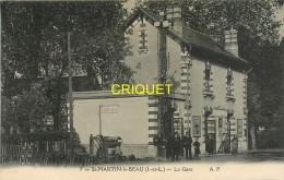 37 St Martin Le Beau, La Gare, Chef De Gare Et Sa Famille - Altri Comuni