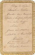 Menu Ancien Pour Adolphe De Clercq Politique - Menus