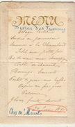Menu Ancien Diner Des Fumeurs Bruges Chez Muuls  1895 Pour De Clercq Politique - Menus