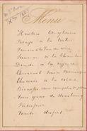 Menu Ancien 1887 Chez Boon Pour De Clercq Politique - Menus