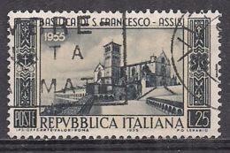 ITALIA 1955 BASILICA DI SAN FRANCESCO SASS. 783 USATO VF - 1946-60: Usados