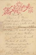 Menu Ancien Chez De Meester Recollé Vignette Dépôt 1889 Pour De Clercq Politique - Menus