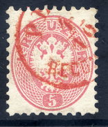 AUSTRIA 1863 Arms 5 Kr Perf. 9½ Used. With Red Postmark.  ANK 32 €40 - 1850-1918 Empire