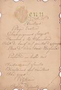 Menu Ancien Chez De Meester 1892 Pour De Clercq Politique - Menus