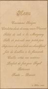 Menu Ancien 1908 Chez Schramme Pour De Clercq Politique - Menus