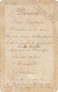 Menu Ancien Chez Dambre Oostkamp Oostcamp 1884 Pour De Clercq Politique - Menükarten