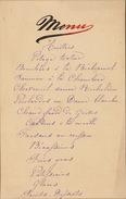 Menu Ancien Chez De Meester 1890 Pour De Clercq Politique - Menus