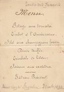 Menu Ancien 1893 Société Des Fumeurs Chez Ghyselen Pour De Clercq Politique - Menus