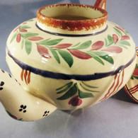THEIERE EN FAIENCE HB QUIMPER - Faïence Bretagne Thé - Teapots