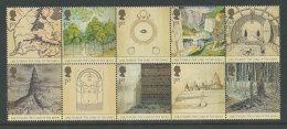 """GRANDE-BRETAGNE - 2004 - Yvert  2523/2532 - NEUFS ** Luxe MNH - Série Complète 10 Valeurs - """"Le Seigneur Des Anneaux"""" - 1952-.... (Elisabeth II.)"""